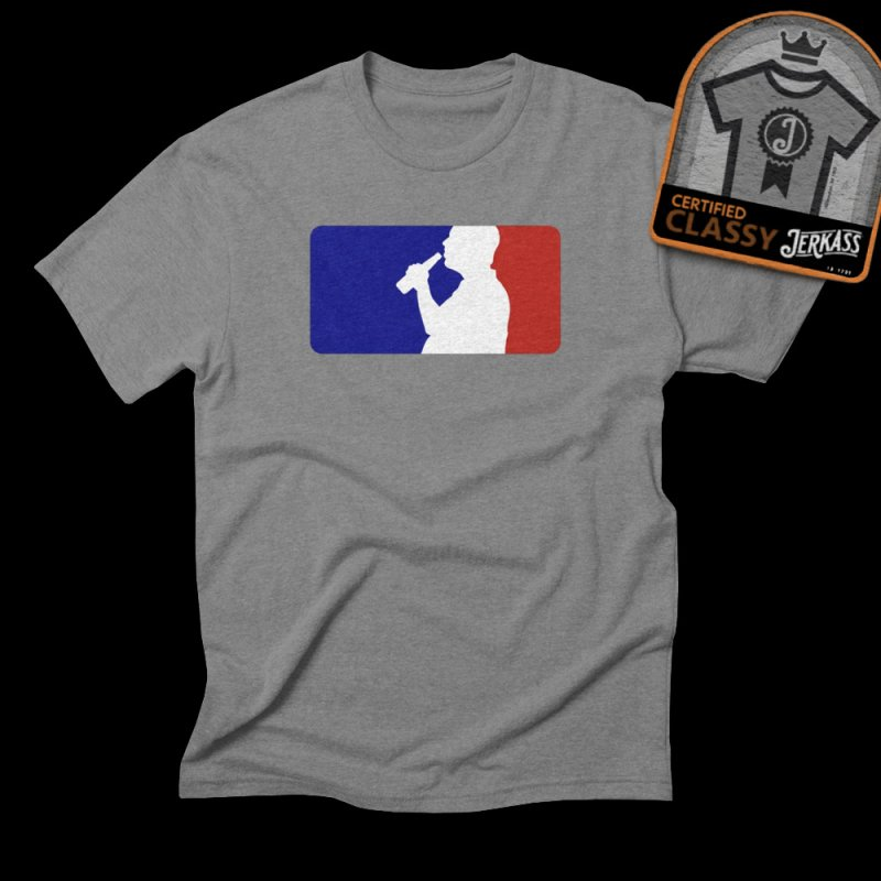 Major League Drinking Logo in Men's Triblend T-Shirt Grey Triblend by Jerkass