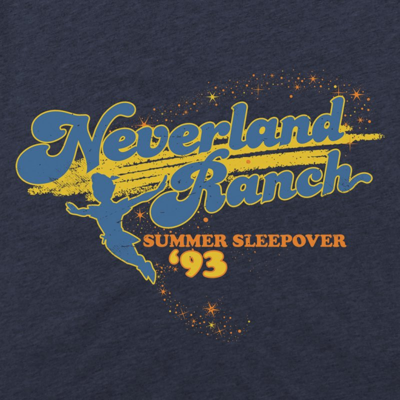 Neverland Ranch Summer Sleepover '93 in Men's Triblend T-Shirt Navy by Jerkass