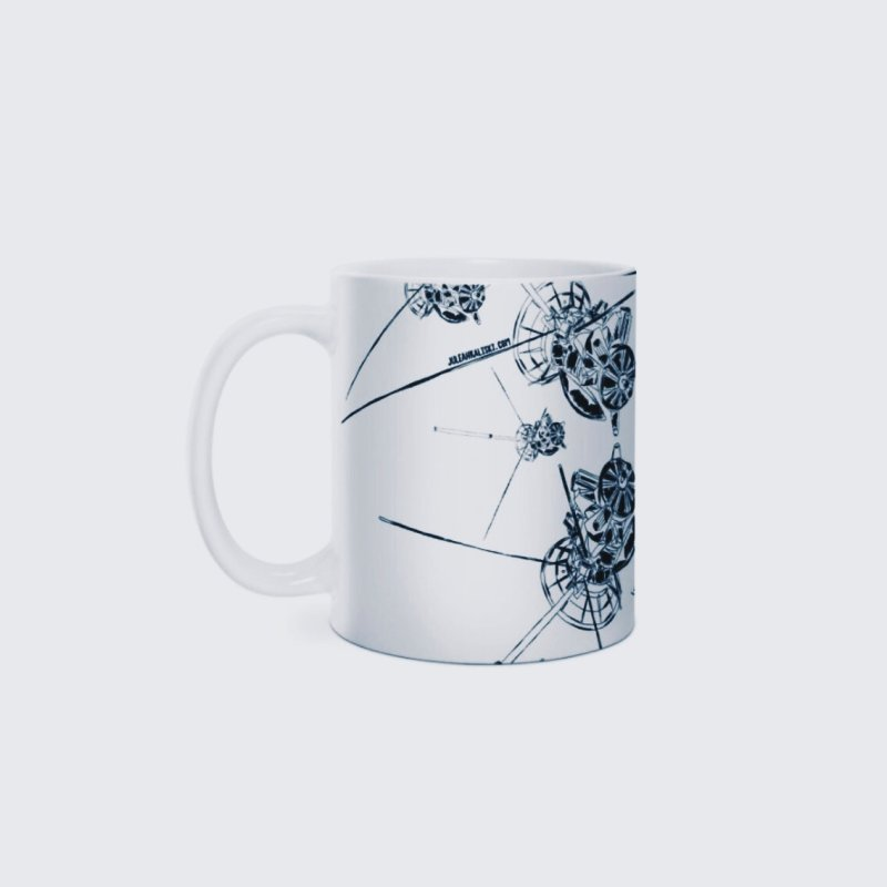 All the Cassini's in Standard Mug White by Juleah Kaliski Designs