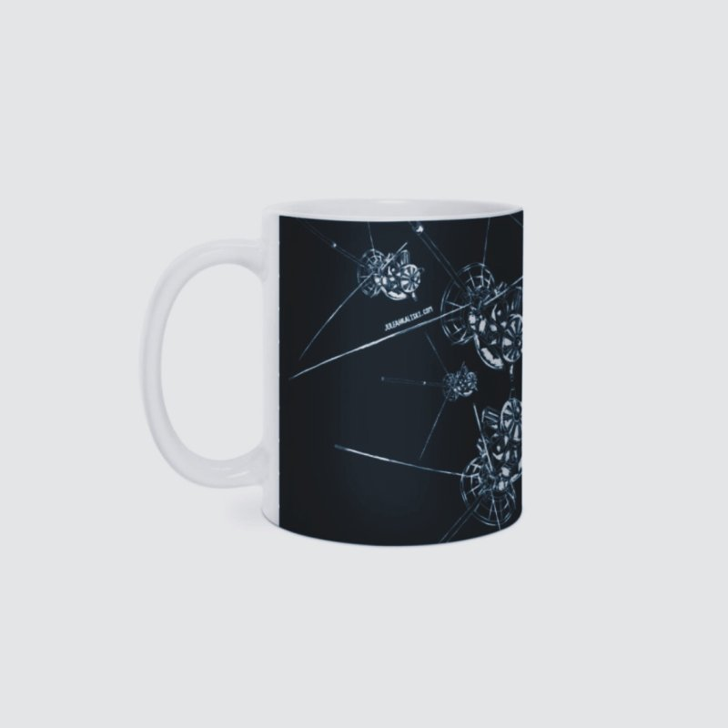 All the Cassini's (BLACK MUG) in Standard Mug White by Juleah Kaliski Designs