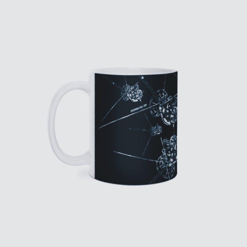 All the Cassini's (BLACK MUG) in Standard Mug White by Juleah Kaliski Designs