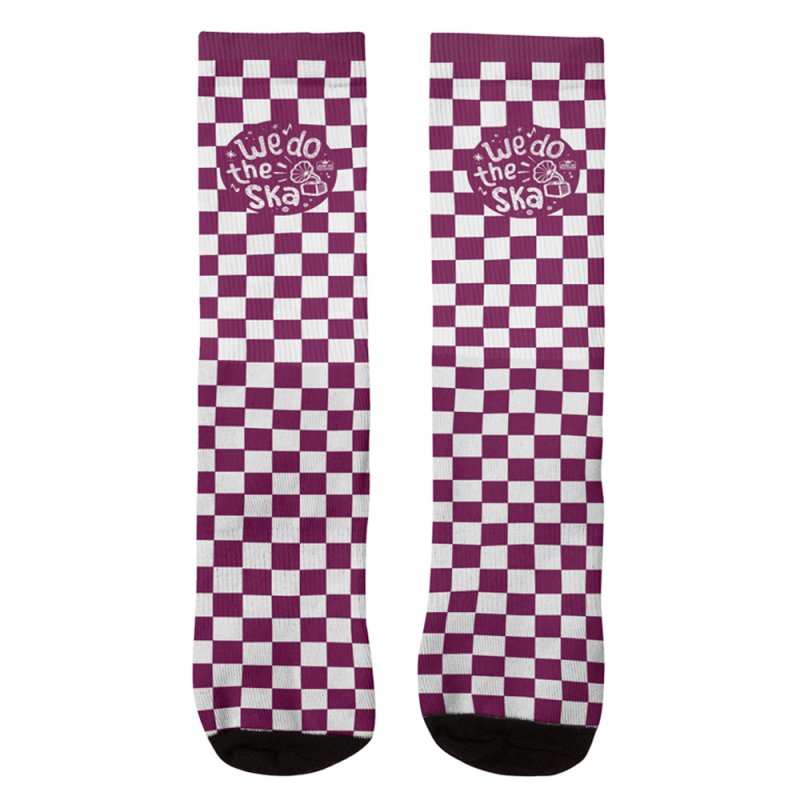 We Do The Ska Checkerboard in Men's Crew Socks by Jump Up Records