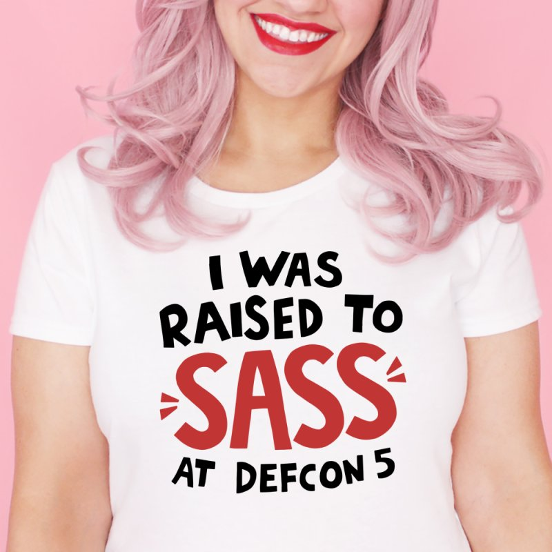 I was raised to sass at Defcon 5 by Kate Gabrielle's Artist Shop