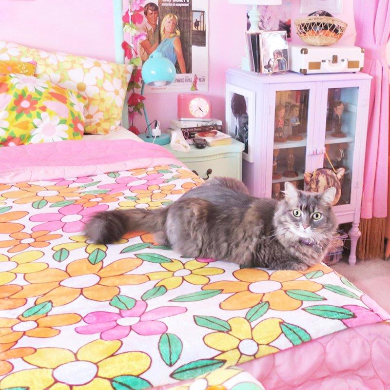 Vintage #29 in Fleece Blanket Blanket by Kate Gabrielle's Artist Shop