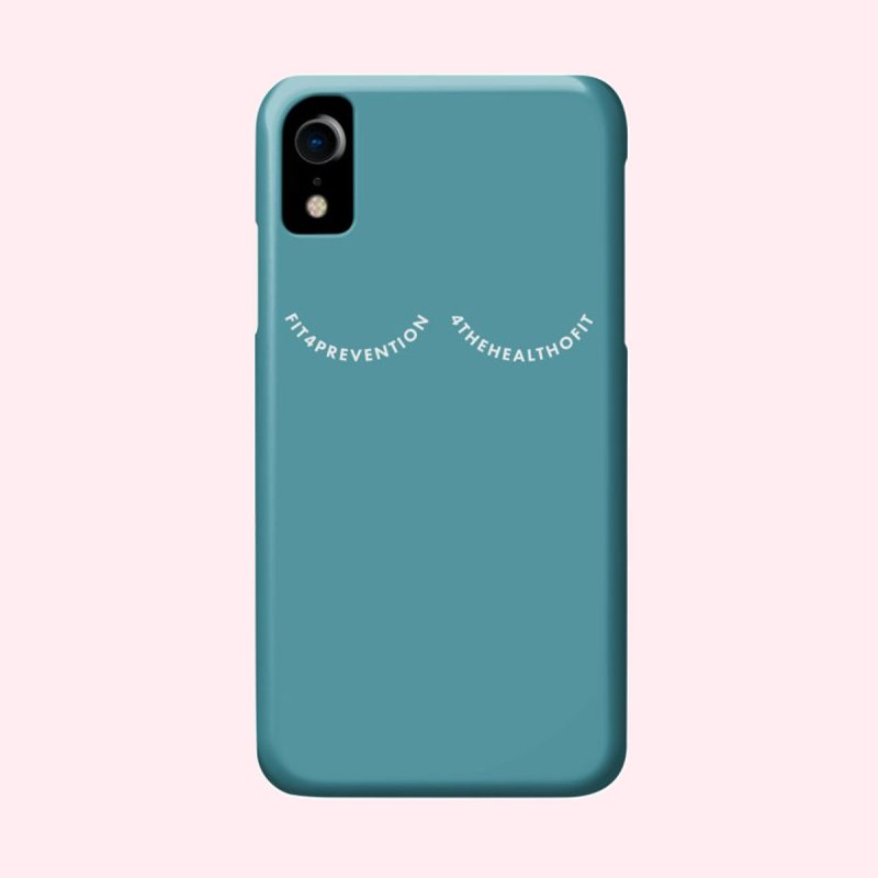 F4P in iPhone XR Phone Case Slim by Keep a Breast Foundation