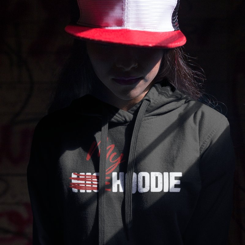 My Hoodie ( Red and White) by King's Tees