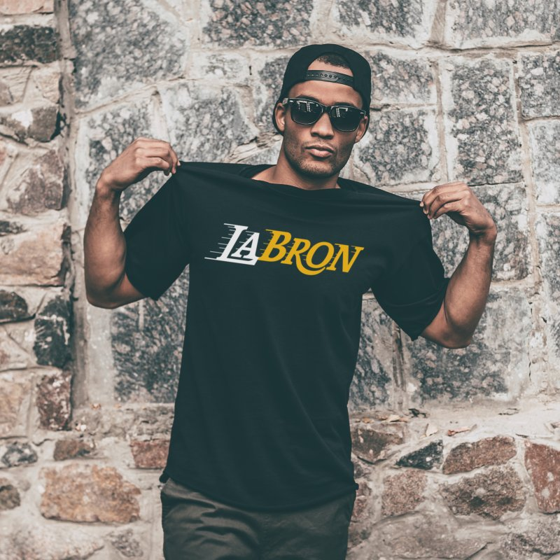 LaBron in Men's Regular T-Shirt Black by lakersnation's Artist Shop
