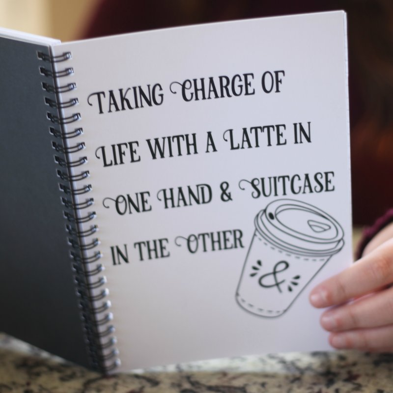 Taking Charge Notebooks by The Official Lattes, Life & Luggage Shop