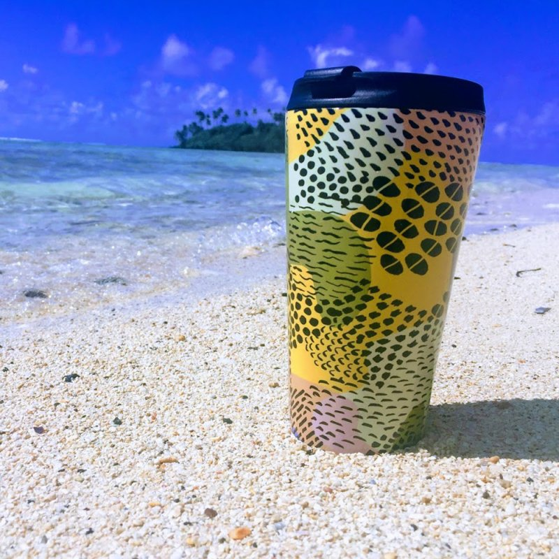 Piña Colada in Travel Mug by Laura OConnor