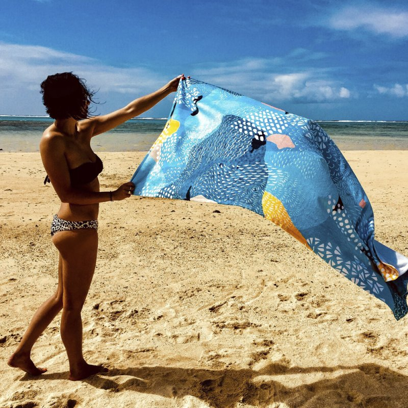 Calm in Beach Towel by Laura OConnor's Artist Shop
