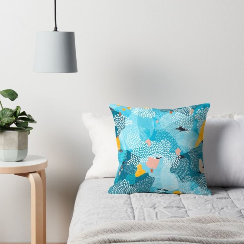 Calm in Throw Pillow by Laura OConnor's Artist Shop