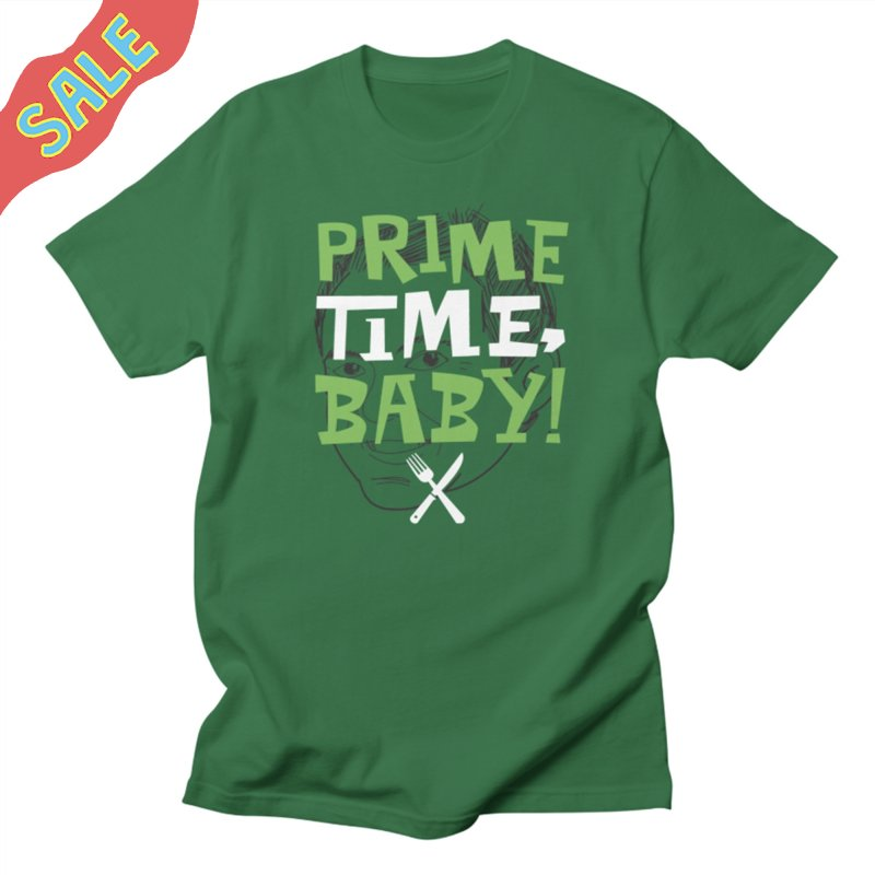 Prime Time Baby in Men's Regular T-Shirt Kelly Green by The Official Dan Le Batard Show Merch Store