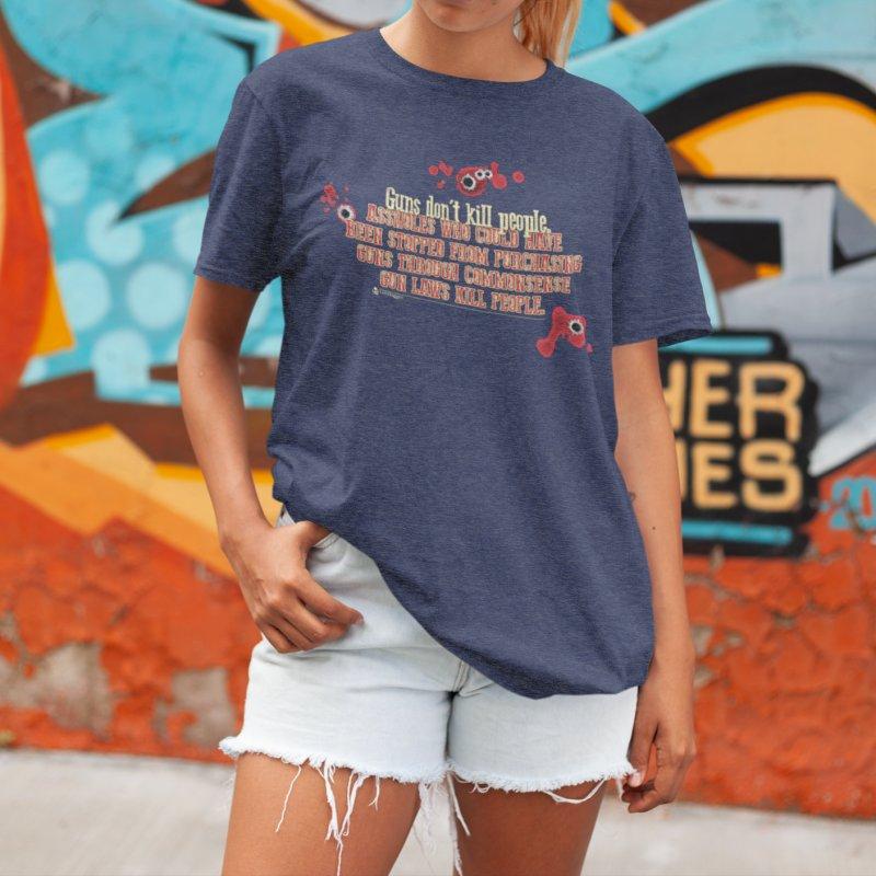 Gun Laws Kill People in Women's Triblend T-Shirt Navy by Lefthugger