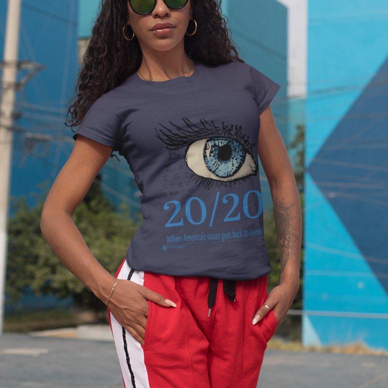 20/20 in Women's Premium T-Shirt Midnight by Lefthugger