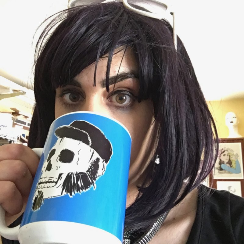 [Deadname Redacted] in Standard Mug White by Punk Rock Girls Like Us