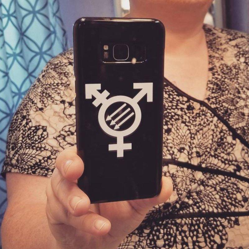 Transfeminist Antifa in iPhone 7 Plus Phone Case Slim by Punk Rock Girls Like Us