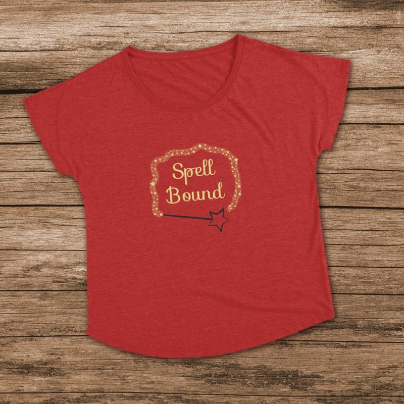 Spell Bound in Women's Dolman Scoop Neck Heather Red by Magic Pixel's Artist Shop