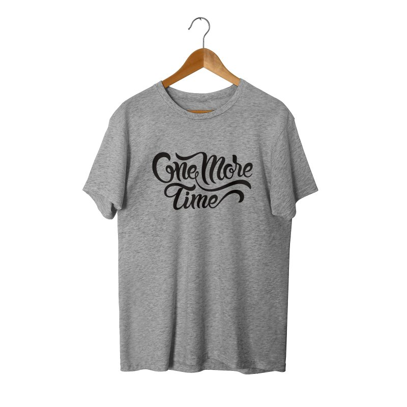 ONE MORE TIME in Men's Triblend T-Shirt Grey Triblend by Malcom clothing