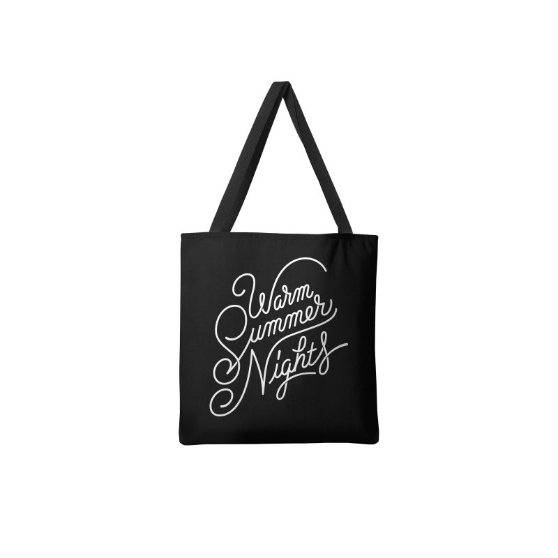 WARM SUMMER NIGHTS in Tote Bag by Malcom clothing