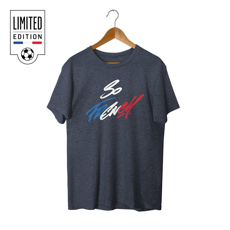 SO FRENCH in Men's Triblend T-Shirt Navy by Malcom clothing