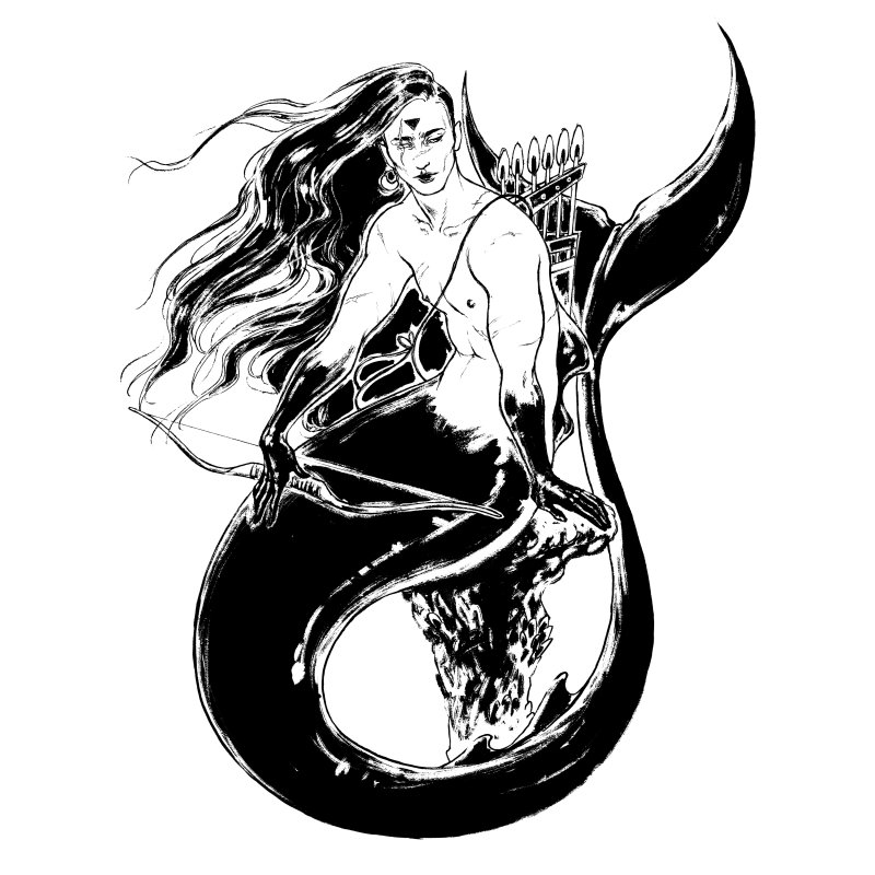 Black Mermaid by Mar del Valle's Artist Shop
