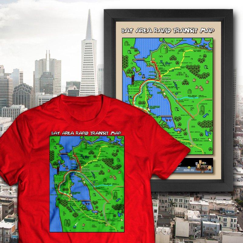 Bay Area Super Mario Map by Mario Maps