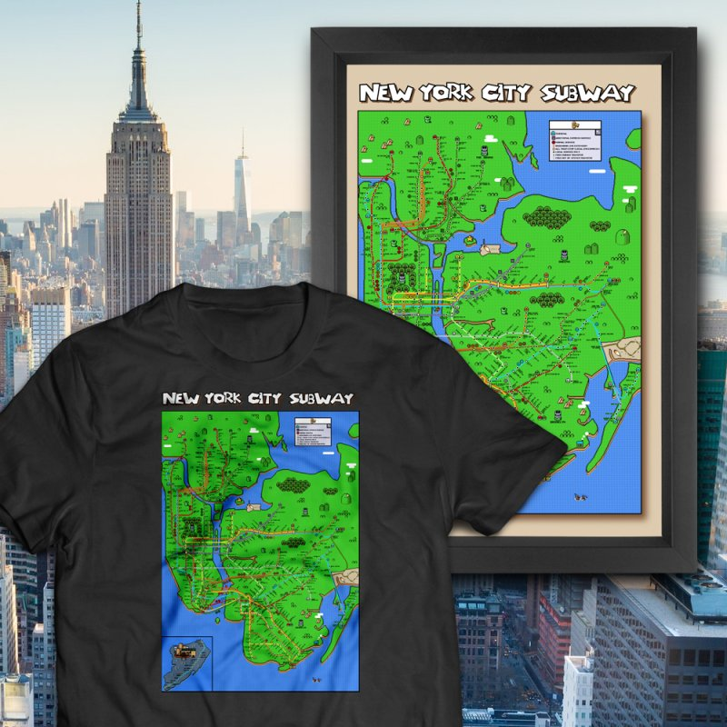 New York Super Mario World Map by Mario Maps