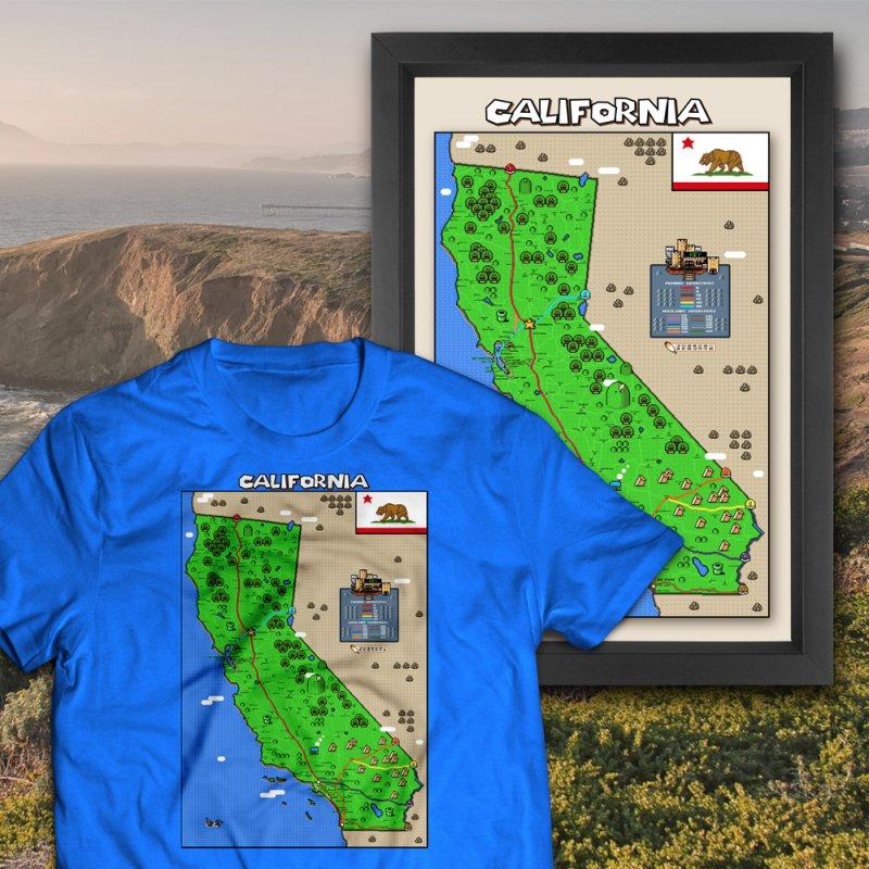 California Super Mario World Map by Mario Maps