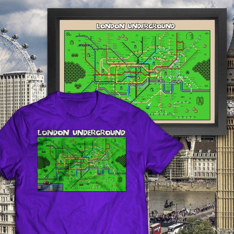 London Super Mario Map by Mario Maps