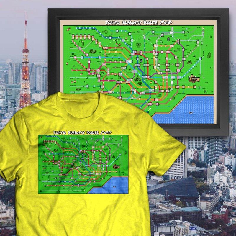 Tokyo Super Mario Map by Mario Maps