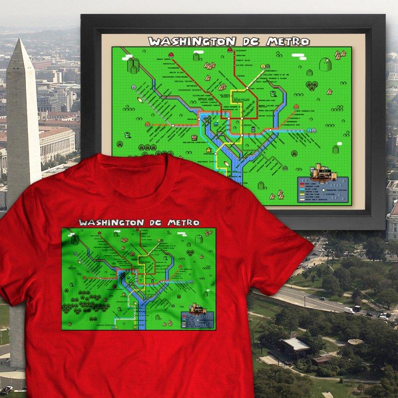 Washington DC Super Mario Metro Map by Mario Maps