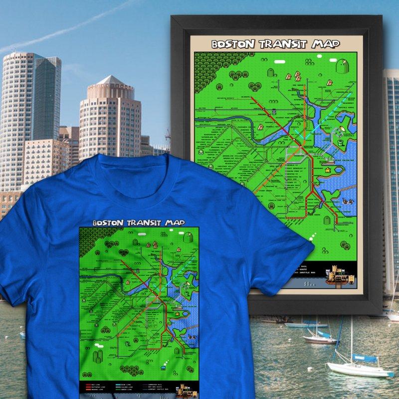 Boston Super Mario Map by Mario Maps