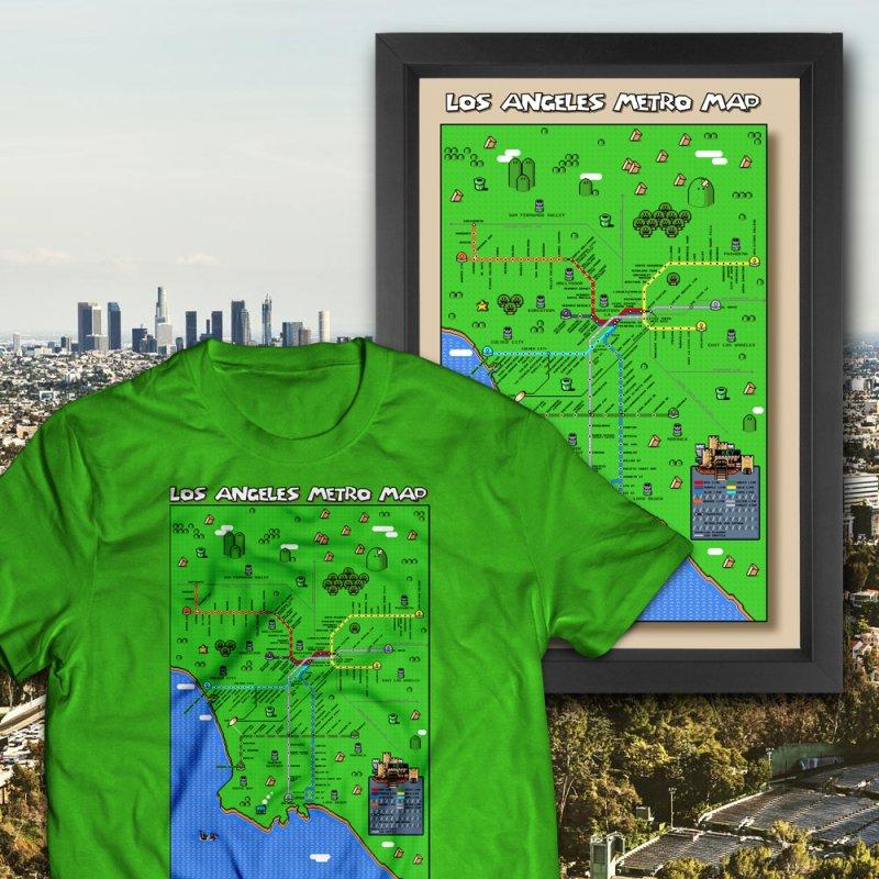 Los Angeles Super Mario World by Mario Maps