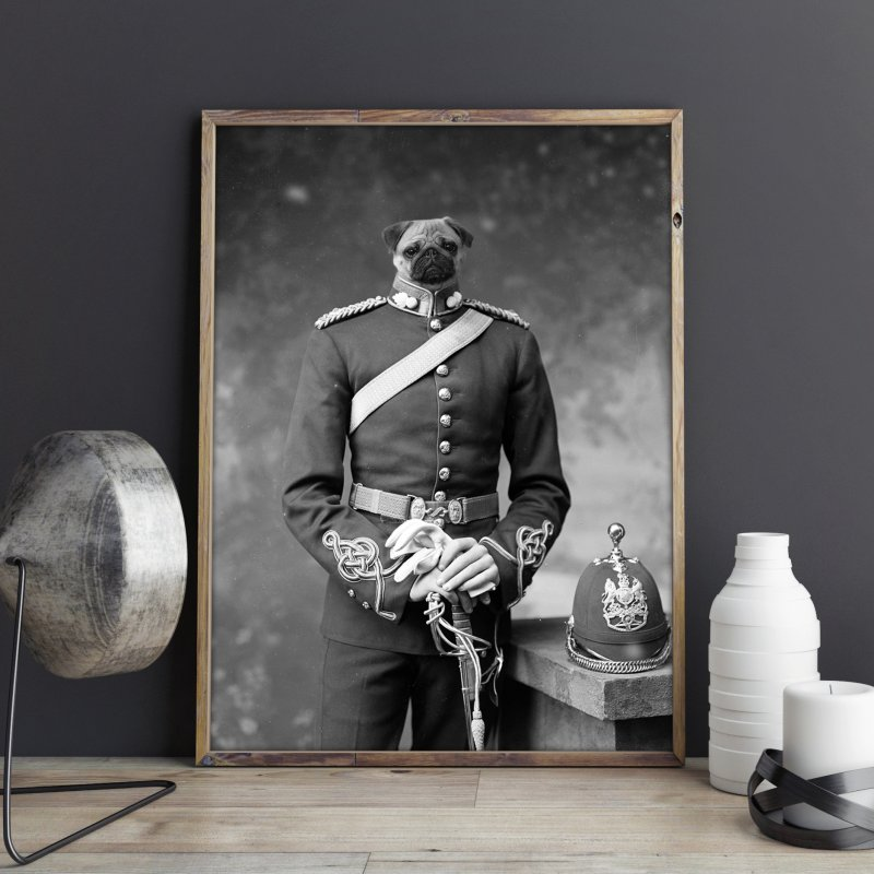 Sergeant Puppers in Fine Art Print by Mario Maps