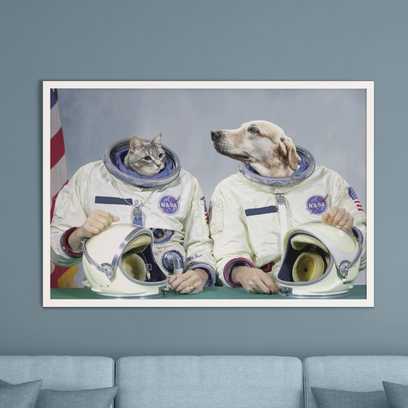 Best Friend Astronauts in Fine Art Print by Mario Maps