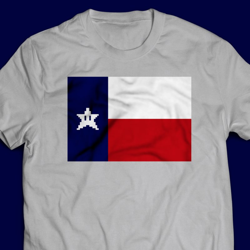 Texas Pixel Flag by Mario Maps