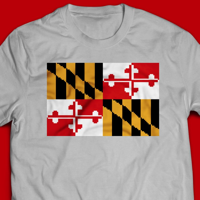 Maryland Pixel Flag by Mario Maps