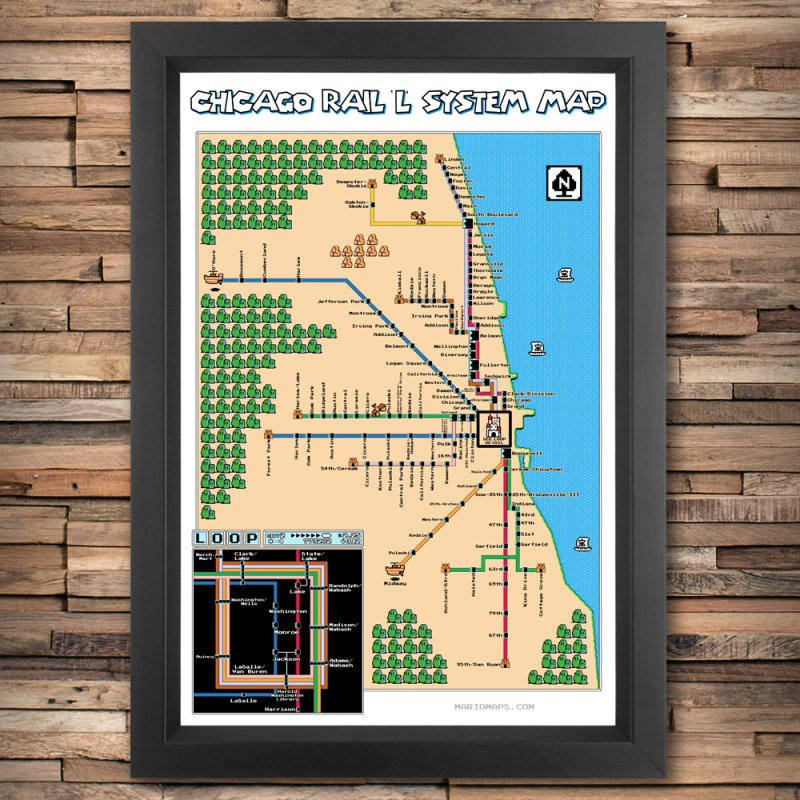 Chicago Super Mario 3 Map by Mario Maps