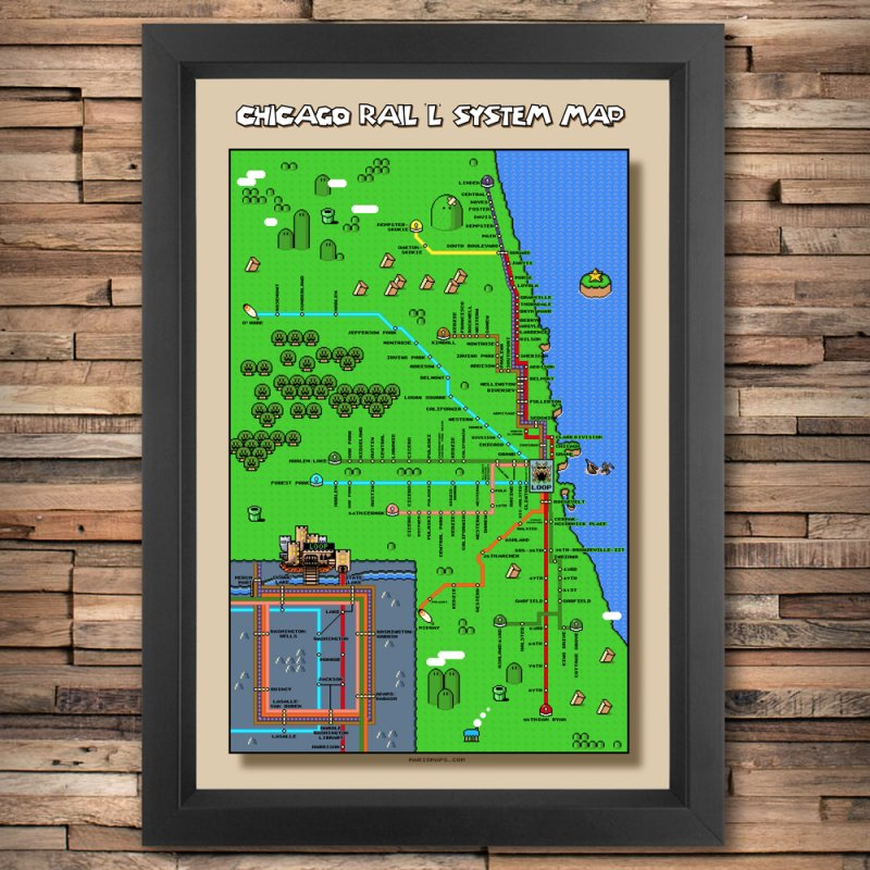 Chicago Super Mario World L Map by Mario Maps