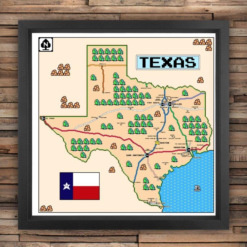 Texas Super Mario 3 by Mario Maps