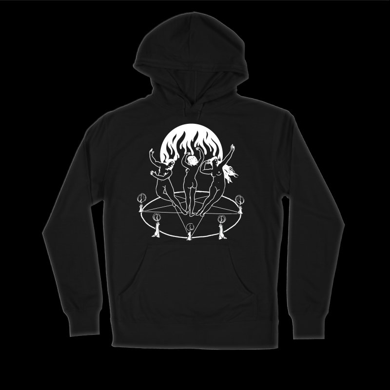 Ring in Men's Sponge Fleece Pullover Hoody Black by marpeach's Artist Shop