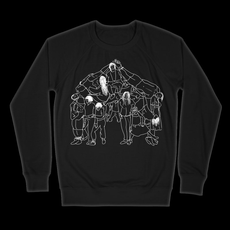 The house that jack built in Men's French Terry Sweatshirt Black by marpeach's Artist Shop