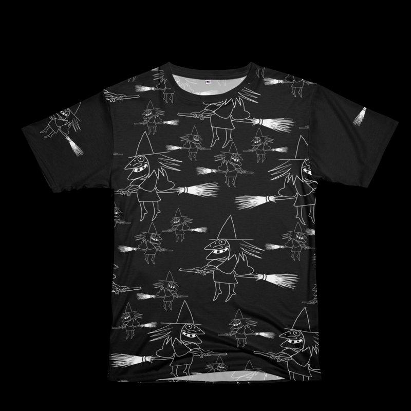 Broomsticks traffic in Women's Unisex T-Shirt Cut & Sew by marpeach's Artist Shop