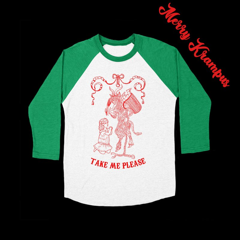 Krampus in Women's Baseball Triblend Longsleeve T-Shirt Tri-Kelly Sleeves by marpeach's Artist Shop