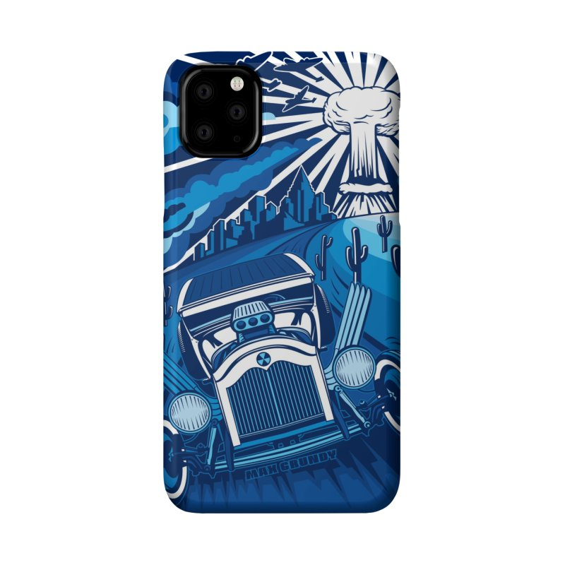 ESCAPE FROM LA (blue) cell phone case by Max Grundy Design's Artist Shop