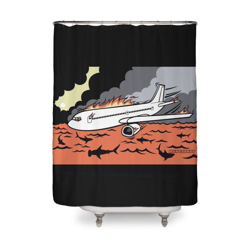 FROM BAD TO WORSE shower curtain by Max Grundy Design's Artist Shop