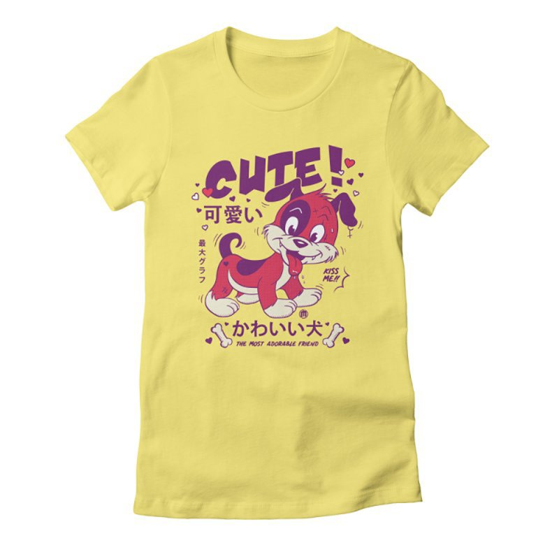 Cute Attack in Women's Fitted T-Shirt Light Yellow by MXM — collection