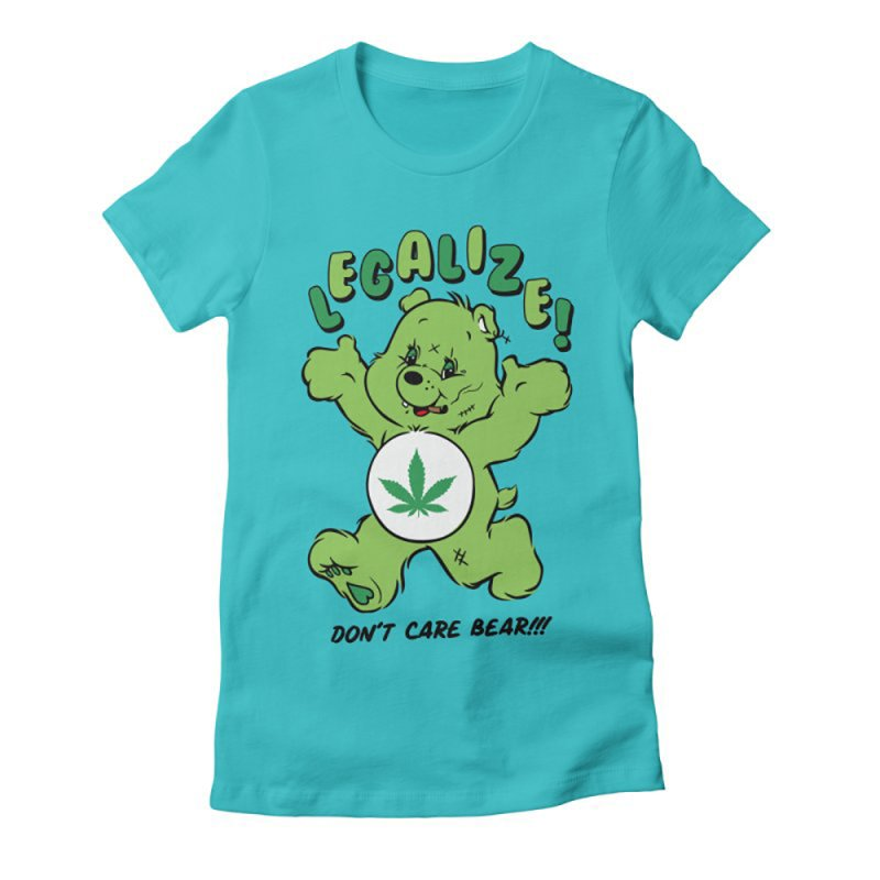 Don't Care Bear in Women's Fitted T-Shirt Cancun by MXM — collection