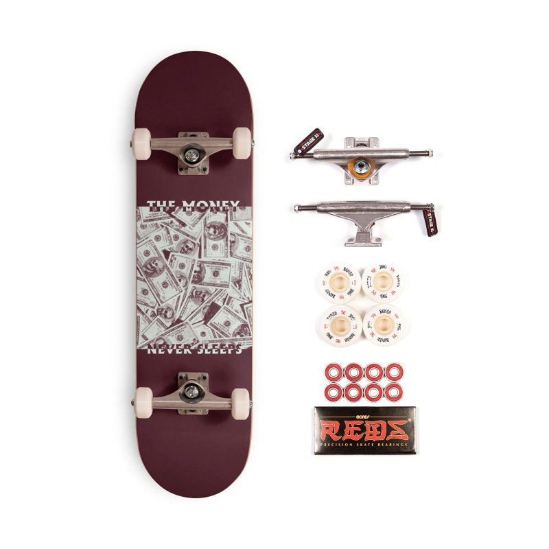 Never Sleeps in Deck Only Skateboard by MAXIMOGRAFICO — collection