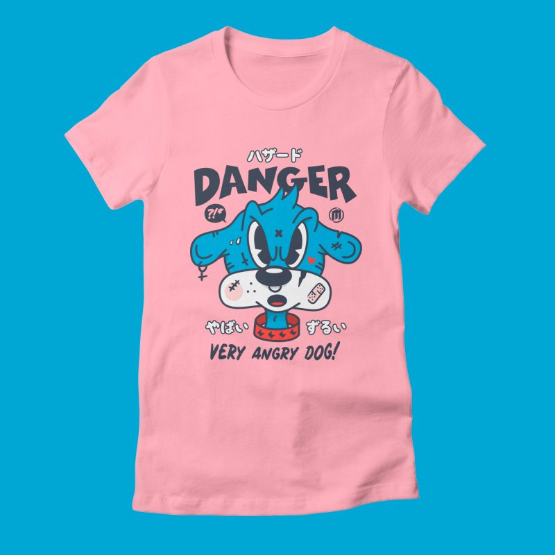 Danger in Women's Fitted T-Shirt Light Pink by MXM — ltd. collection